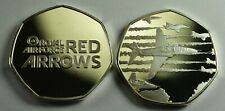 THE RED ARROWS Silver Commemorative Coin 50p Collectors. Royal Air Force RAF