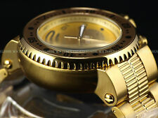 Invicta Men 52mm Pro Diver Combat Seal Chrono Gold Tone Bracelet SS Watch 500m