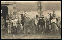 WW1 CAVALRY FRENCH CORP. WAR HORSES ANTIQUE RPPC PHOTO POSTCARD