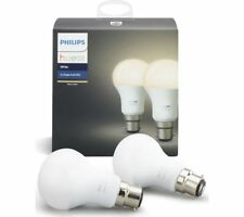 PHILIPS Hue White Wireless Bulb - B22, Twin Pack
