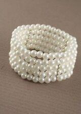 Pearl (Imitation) Cuff Costume Bracelets