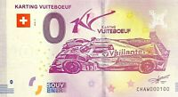 BILLET 0  EURO KARTING DE VUITEBOEUF SUISSE 2018 NUMERO 100