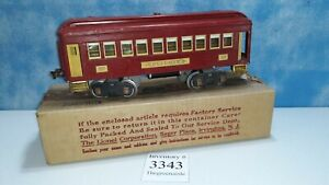 Classic Lionel Pullman # 337 Car Standard Gauge With Box