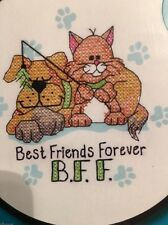 "Cross Stitch Kit. ""Best Friends Forever"""