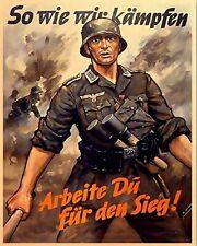 WW2 German Army Aged Metal Poster, Army, Reenactor, Second World War, GAP101