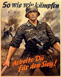 WW2 German Army Aged Metal Sign, Army, Reenactor, Second World War, GAP101