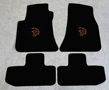 Autoteppich Fußmatten für Dodge Challenger Hellcat ab Bj08 Velours Nubuk cognac