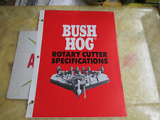 Bush Hog Rotary Cutter Specifications, February 1992