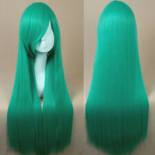 """80CM/32"""" Long straight Cosplay Fashion Wig heat resistant Skintop Breathable net"""