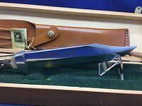 1973 Vintage PUMA 6376 BIG BOWIE Knife & Leather Sheath In Near Mint Box #72