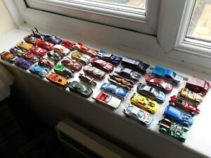 Hot Wheels job lot x40 toy cars trucks hot rods etc, fair-good used condition