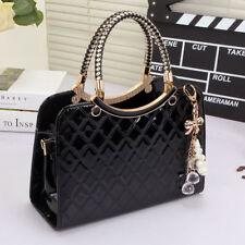 Ladies Black Leather Handbag New Tote Designer Style Celebrity Shoulder Bag