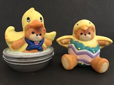 Lucy & Me/Lucy Rigg Easter Bear as Duck In Tub/Chick In Egg; Free Priority Ship!