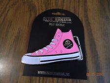 MIP- Neon Pink High Top Tennis Shoe Belt Buckle enamel colored/metal buckle