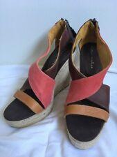 Bettye Muller Wedge Espadrille Sandals Spain Made Sz 41