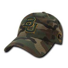 NCAA Baylor Bears University 6 Panel Relaxed Camo Camouflage Baseball Caps Hats