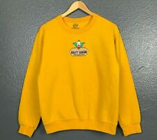 The Simpsons Krusty Burger Yellow Cotton Blend Crewneck Pullover Sweatshirt Sz S