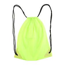 Premium School Drawstring Duffle Bag Sport Gym Swim Dance Shoe Backpack TO