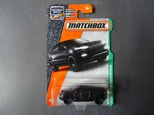 Matchbox Range Rover Evoque. Black 2016 U.S. Issue on Long Card. SEALED