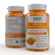 PURE ORGANIC TURMERIC ROOT EXTRACT 95% CURCUMINOIDS ANTIOXIDANT 60 VEG CAPSULES