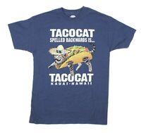 The Duck Company Maui Hawaii TACOCAT Spelled Backwards Blue Graphic T-Shirt M