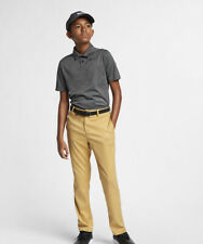 Nike Flex Golf Pants Boys Youth Aj5505 Gold Tan Stretch Standard Size XL