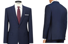 Daniel Hechter Pindot Tailored Suit Jacket, Navy - UK Size 40R RRP £180 - BNWT