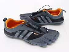 ADIDAS MENS SIZE 10 ADIPURE LACE BAREFOOT TRAINER RUNNING SHOES GRAY & BLACK