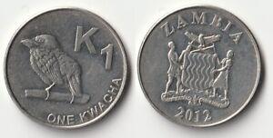 2012 Zambia 1 kwacha coin
