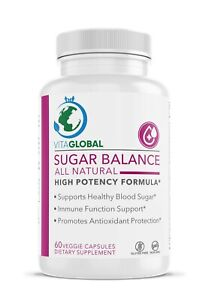 Sugar Balance for Healthy Blood Sugar All Natural by VITAGLOBAL 60 Capsules