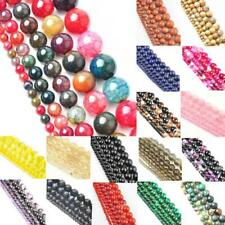Natural Quartz Gemstone Round Bead Space Loose Beads For DIY Necklace 4-12mm