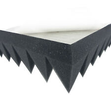 Dibapur Pyramidenschaumstoff Selbstklebend 100x50x7 cm - Anthrazit/Schwarz
