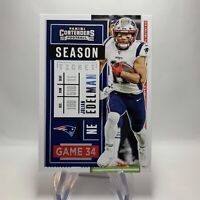 NFL Contenders 2020 Football Card 43 Julian Edelman New England Patriots