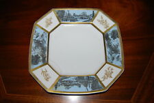 RARE ANCIENT SCENES LIMOGES GRISAILLE CABINET PLATE FOR TIFFANY AND CO. NEW YORK