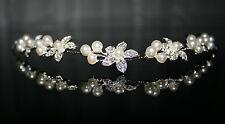 Braut Haarschmuck Kunstperle Kristalle Hochzeit Kommunion Kopfschmuck Typ 7
