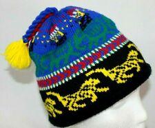 Turtle Fur Poppy Gall Winter Beanie Youth One Size Knit Wool Fleece lining EUC