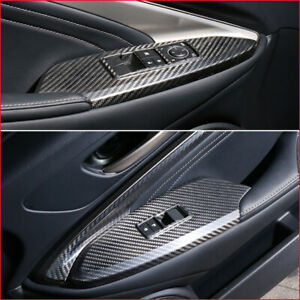 Real Carbon Fiber Window Switch Panel Frame Trim For Lexus RC200/300 2015-2021