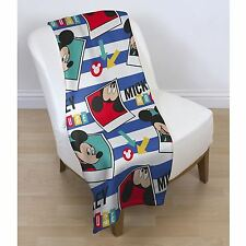 NEW DISNEY MICKEY MOUSE POLAROID DESIGN FLEECE  BLANKET SOFA THROW BOYS SNUGGLE