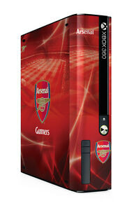 Xbox 360 E GO Console Skin Sticker Arsenal Football Club Official Gunners New