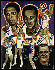 1973-74 INDIANA PACERS PROGRAM YEARBOOK~MEL DANIELS GEORGE McGINNIS AUTOGRAPHS