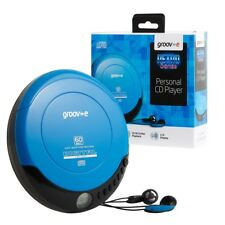 Groov-e Retro Series Personal Portable CD Player with Earphones Model GVPS110/BE