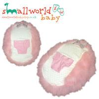 Personalised Girls Pink Fur Baby Bean Bag (NEXT DAY DISPATCH)