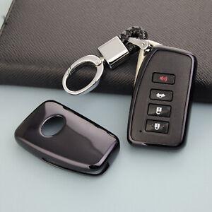 For Lexus IS/ES/NX/RX/GS/LX/RC Black Smart Key Fob Chain Case Cover Accessories