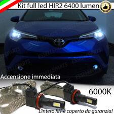 KIT FULL LED HIR2 HIR TOYOTA C-HR CHR 6000K BIANCO CANBUS 6400 LUMEN NO ERROR