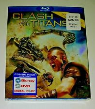 Clash of the Titans - Blu-ray + DVD + Digital Copy - new & sealed (w/ slipcover)