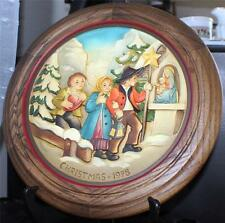 New in Box 1978 Anri Schmid Wood Hand Carved&Painted Christmas Décor Plate