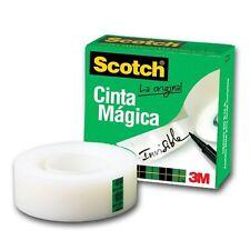 12 cintas adhesivas invisible Scotch Magic 810 19 X 33mm