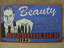 Beauty Eye Beer Holder Funny Bar Tin Metal Sign Decor