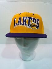 LAKERS  RETRO VINTAGE SNAPBACK CAP  WAVE STYLE YELLOW/ PURPLE BY ADIDAS
