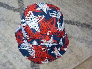 ( 2-4T ) Toddler OshKosh B'Gosh Sun Bucket Hat Stars Red White & Blue